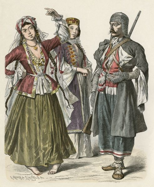 A group of Circassians and Georgians Date: 19th century