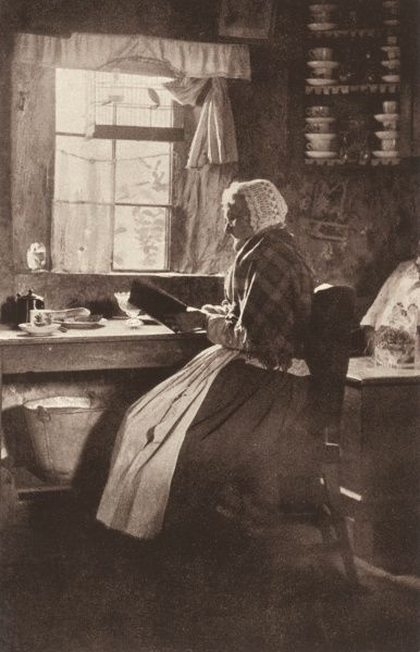 A Scottish countrywoman in her cottage