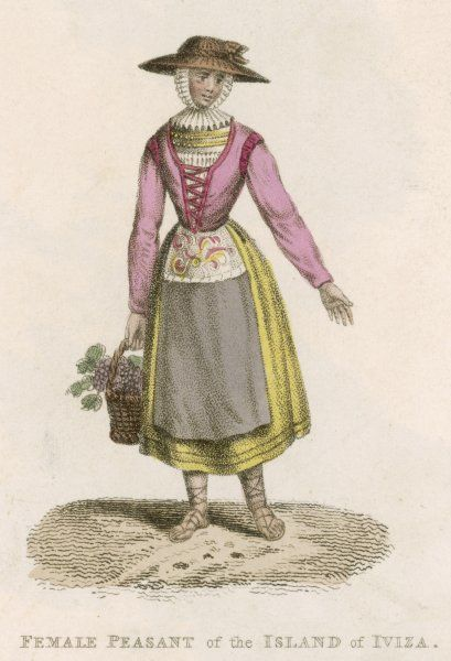 Peasant woman from the island of Ibiza