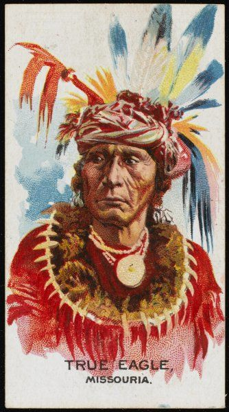 True Eagle: Chief of the Missouria tribe