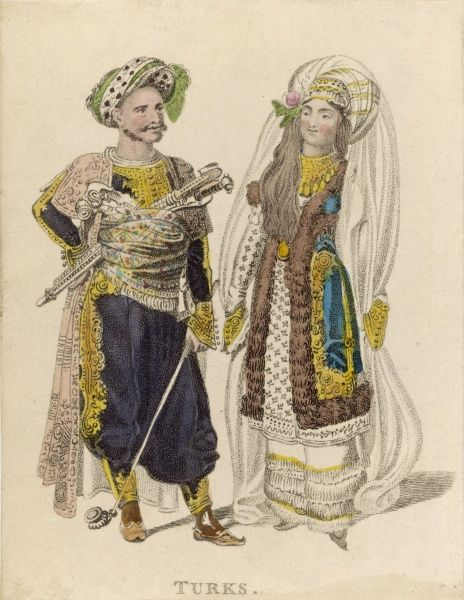 Turkish couple in their wedding costume
