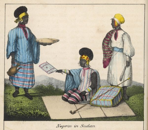 A high-ranking Sudanese gentleman, attended by his attendants