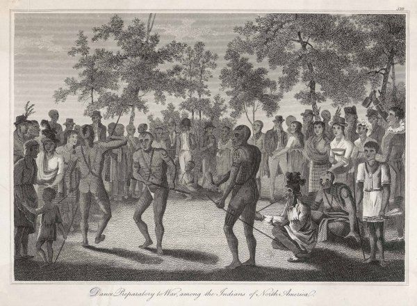 'Dance Preparatory to War, among the Indians of North America&#39