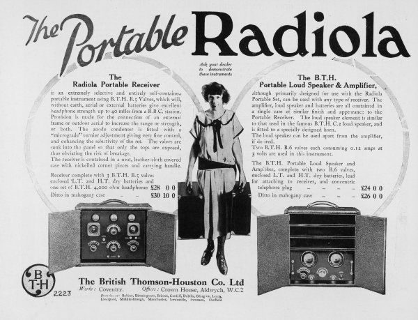 The Portable (well, sort of) RADIOLA receiver, loud speaker and amplifier