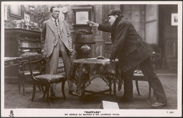 Mr. Gerald du Maurier & Mr. Laurence Irving in a scene from Ernest William Hornung's play 'Raffles&#39