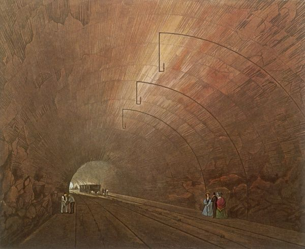 LIVERPOOL - MANCHESTER RAILWAY Inside a tunnel along the course of the historic rail link, opened in September 1830
