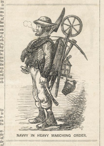 Affectionately satirical view of a navigator, or navvy