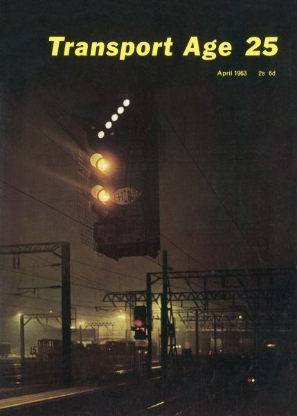 Colour-light signalling, a modern innovation in the early 1960s, on an electrified railway line