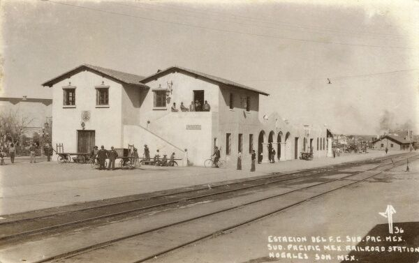 Pacific Mexico Railway Station at Nogales, Sonora, Mexico. Date: 1936