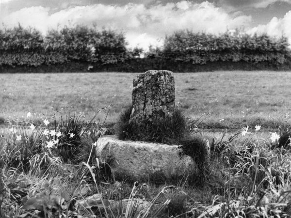 The remains of Raleigh's Cross, on the Brendon Hills, Somerset, England. Date: Medieval