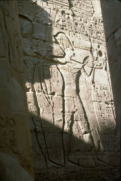 RAMESES II (THE GREAT) Wall carving of Rameses II at the Temple of Luxor