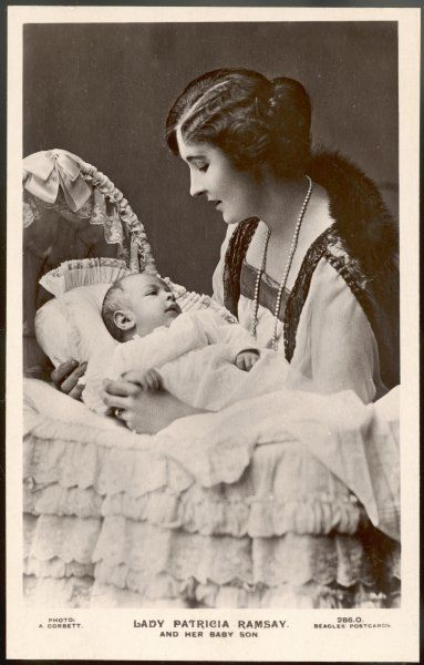 PRINCESS PATRICIA of CONNAUGHT Daughter of Arthur, Duke of Connaught, wife of Sir Alexander Ramsay, seen here with her baby son