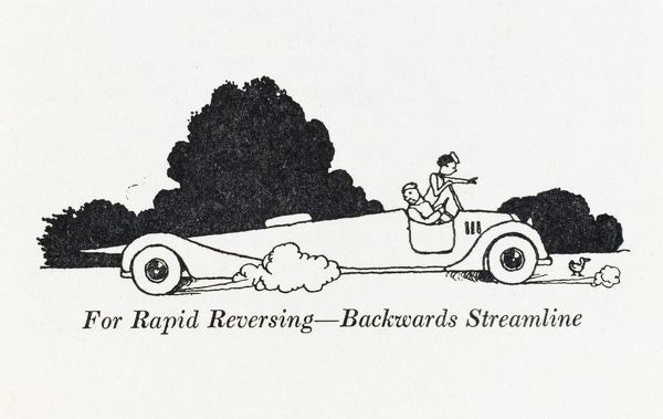 For rapid reversing, backward streamline. Please note: Credit must appear as (c) Courtesy of the estate of Mrs J.C.Robinson/Pollinger Ltd/Mary Evans Picture Library
