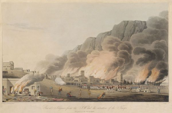 British attack on the pirate town of Ras-al-Khyma, on the Straits of Hormuz. (It will be attacked again in 1812 and subsequently.)