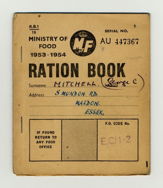 Britain is still being rationed - eight years after the end of the war !