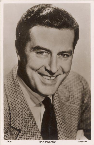 RAY MILLAND (Reginald Truscott-Jones) American film and TV actor and director, born in Wales