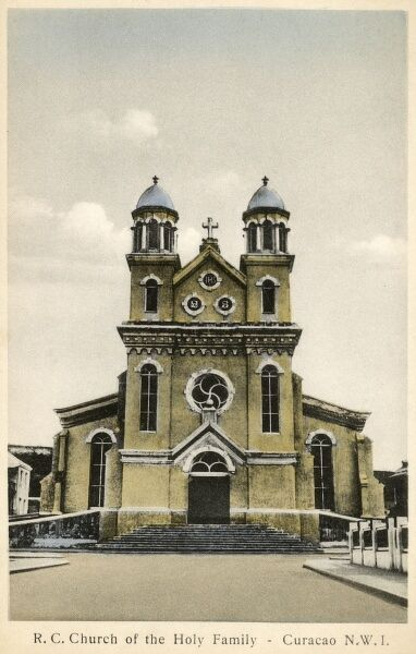Curacao - a Dutch dependency in the West Indies. The Roman Catholic Church of the Holy Family. Date: circa 1910s
