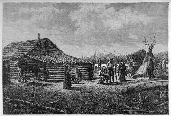 Trading-post on the Red River