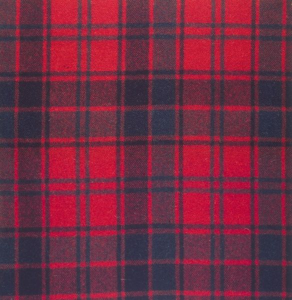 The 'Red Robertson' tartan of the Robertson clan, Scotland. Date: photo taken 1971