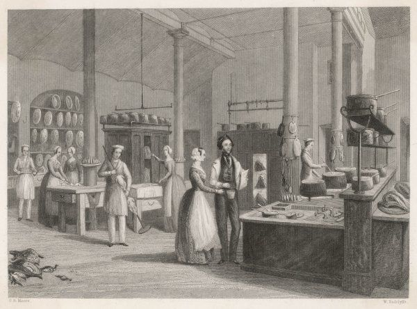 The kitchen staff at the Reform Club, London, where the kitchens were designed by Alexis Soyer