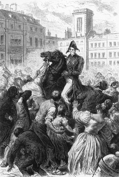 Despite being a popular hero, Wellington is attacked by the London mob because he is opposed to the Reform Bill