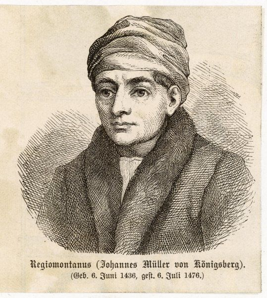 REGIOMONTANUS (JOHANN MULLER VON KONIGSBERG) German mathematician and astronomer