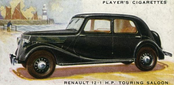 The Renault 12-1 hp touring saloon is a no-frills family saloon. Date: 1937