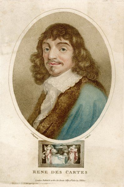 Rene Descartes, French mathematician and philosopher. His most famous philosophical statement was: I think, therefore I am