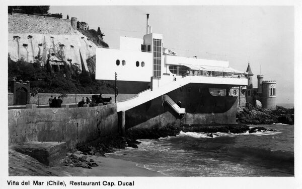 Restaurant Cap. Ducal - Vina del Mar, Chile. Still going strong today - over 80 years since opening. Date: circa 1930s