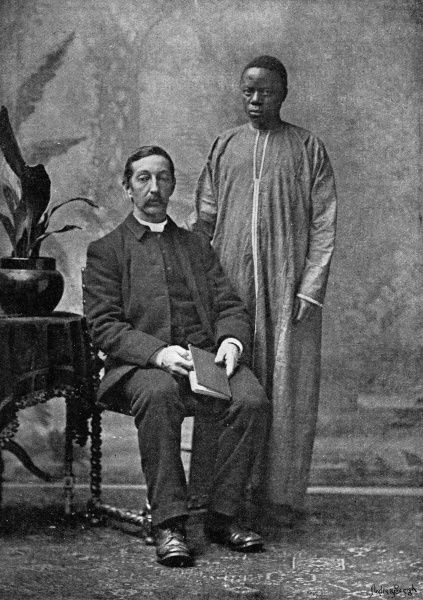The Rev. R.H. Walker, missionary at Uganda, and Mika Sematimba. Rev. Walker is interviewed, stating his desire that Uganda is retained by the English. Date: 1892
