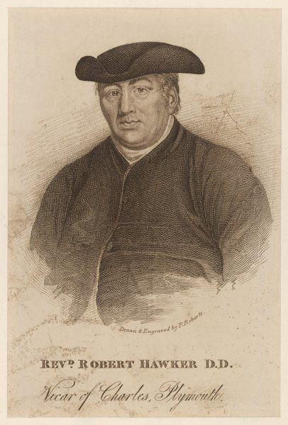 REV ROBERT HAWKER Clergyman and writer, Vicar of Charles, Plymouth