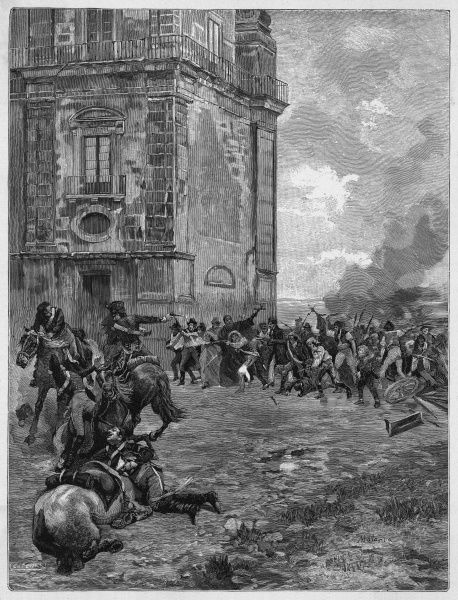 The people of Palermo, Sicily, revolt against their Bourbon rulers - one of the earliest manifestations of the Risorgimento
