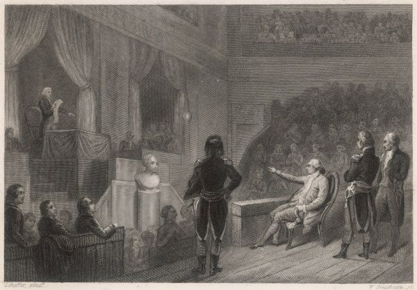 Louis XVI appears before the convention to hear the charges against him