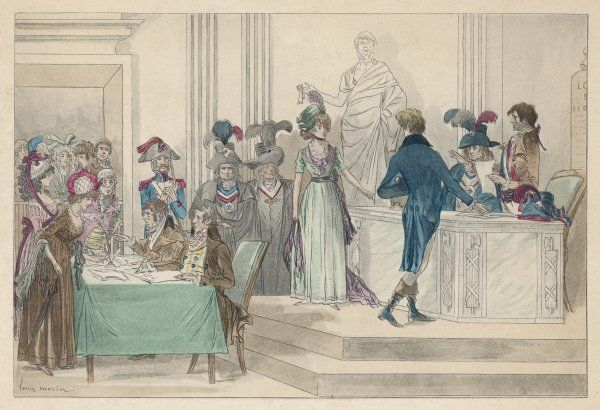 A Republican marriage during the French Revolution