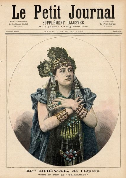 Mademoiselle Breval in the title role of this epic opera based on the novel by Flaubert