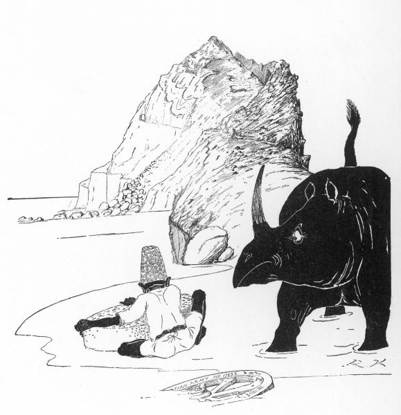 Illustration by the author to 'How the Rhinoceros Got his Skin' by Rudyard Kipling in Just So Stories