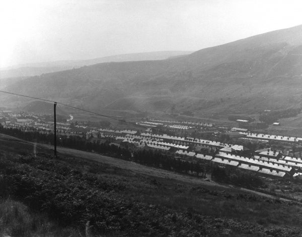 The mining village of Treherbert at the head of the Rhondda Fawr in South Wales. Date: 1960