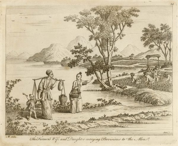 The Farmer's Wife and Daughter carrying Provisions to the Men