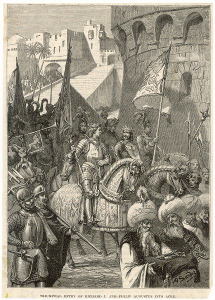THIRD CRUSADE - Richard I lands at Acre and takes the city