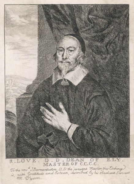 RICHARD LOVE English churchman, dean of Ely and master of Corpus Christi college, Cambridge