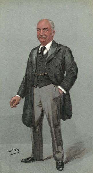 Caricature of Richard William Evelyn Middleton (1846-1905), Conservative Party Chief Agent 1885-1903. Date: 18th April 1901