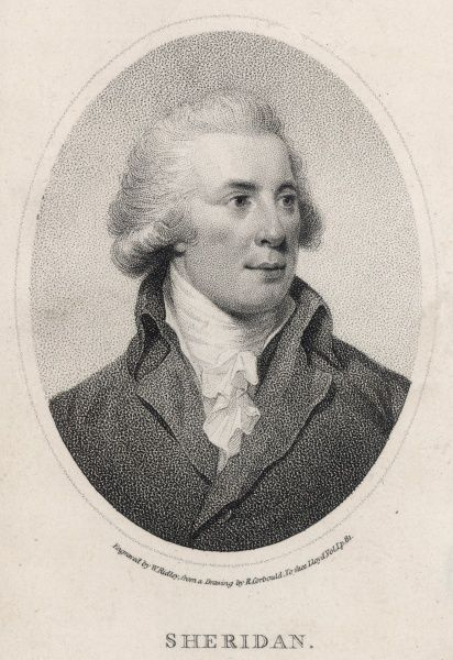 RICHARD BRINSLEY SHERIDAN Irish dramatist and politician
