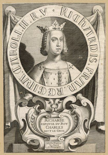 RICHARDE, queen of Carloman, king of France (co-ruler with Louis III)