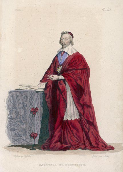 Armand Jean Duplessis, duc de RICHELIEU French cardinal and statesman