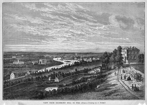 The view from Richmond Hill, looking west over the Thames