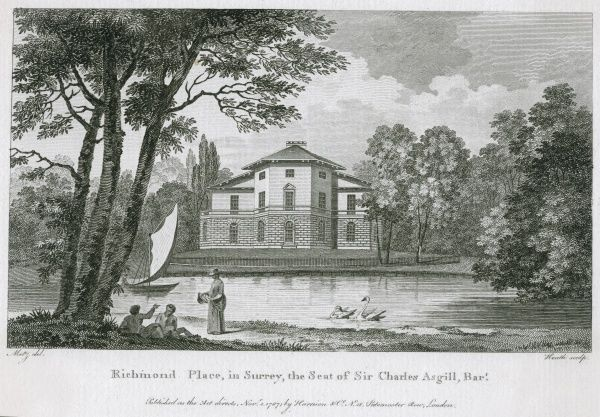 Richmond Place, the seat of Sir Charles Asgill - evidently situated on the banks of the Thames Date