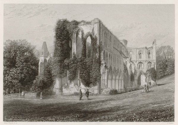 The majestic ruins of Rievaulx Abbey, Yorkshire