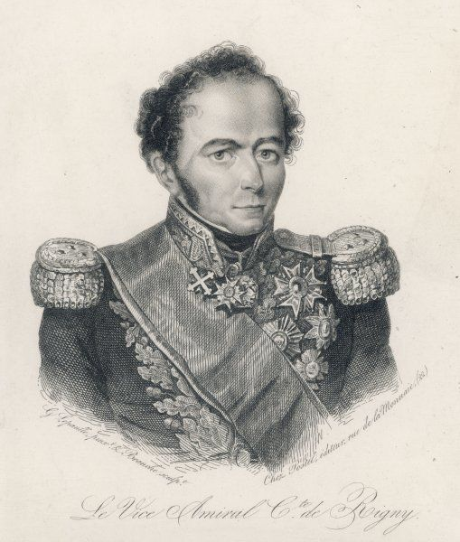 HENRI COMTE DE RIGNY French Admiral and diplomat in Greece. Aided by the British in the Battle of Navarino in 1827, which secured Greece independence from Turkey