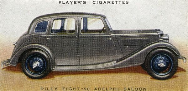 Riley Eight 90 Adelphi saloon, with all-British V-8 engine. Date: 1936