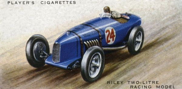 The Riley two-litre racing car has had several successes, both with the factory team and independent racing driver Freddie Dixon. Date: 1936